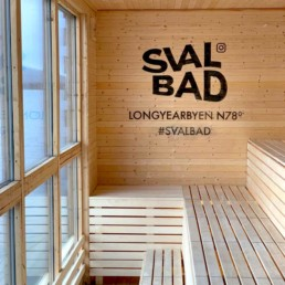 Picture of the interior benches of SvalBad Sauna– Made from re-purposed wood.