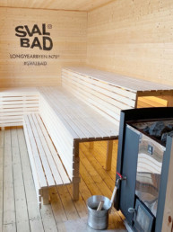 SvalBad sauna oven and benches